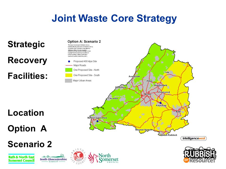 Joint Waste Core Strategy Strategic Recovery Facilities: Location Option A Scenario 2