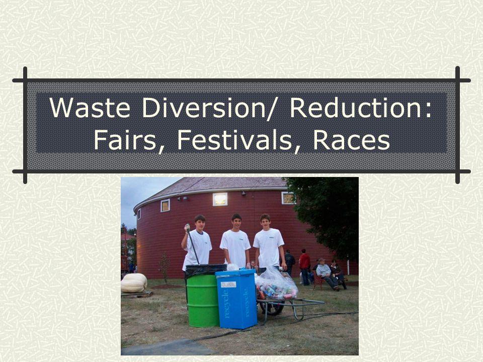 Waste Diversion/ Reduction: Fairs, Festivals, Races