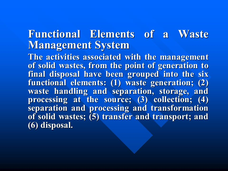 14- 2 Chemical properties of MSW Proximate Analysis Proximate Analysis Fusing Point of Ash Fusing Point of Ash Ultimate Analysis of Solid Waste Components Ultimate Analysis of Solid Waste Components Typical proximate analysis and data for materials found in residendtial, commercial, and industrial solid Typical proximate analysis and data for materials found in residendtial, commercial, and industrial solid Essential Nutrients and Other Elements Essential Nutrients and Other Elements