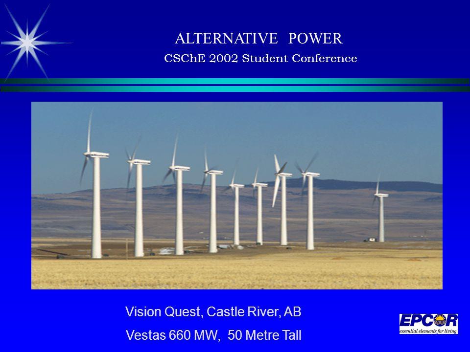 Vision Quest, Castle River, AB Vestas 660 MW, 50 Metre Tall