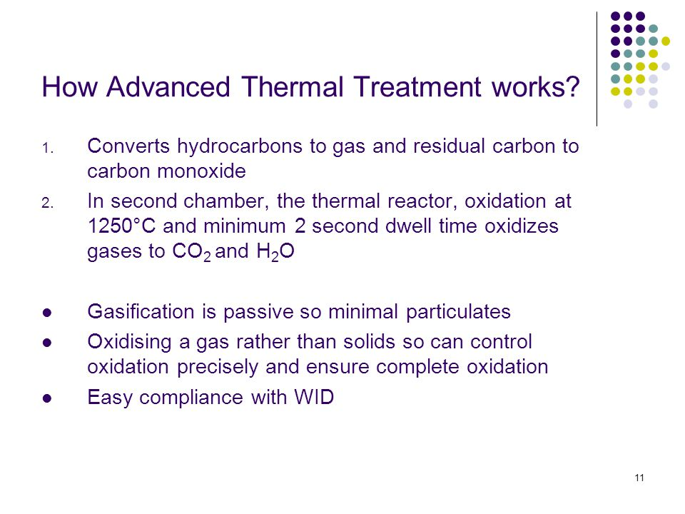 11 How Advanced Thermal Treatment works. 1.