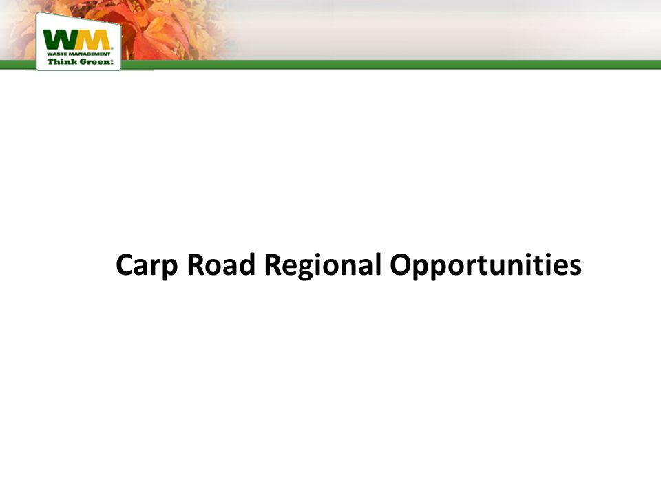 Carp Road Regional Opportunities