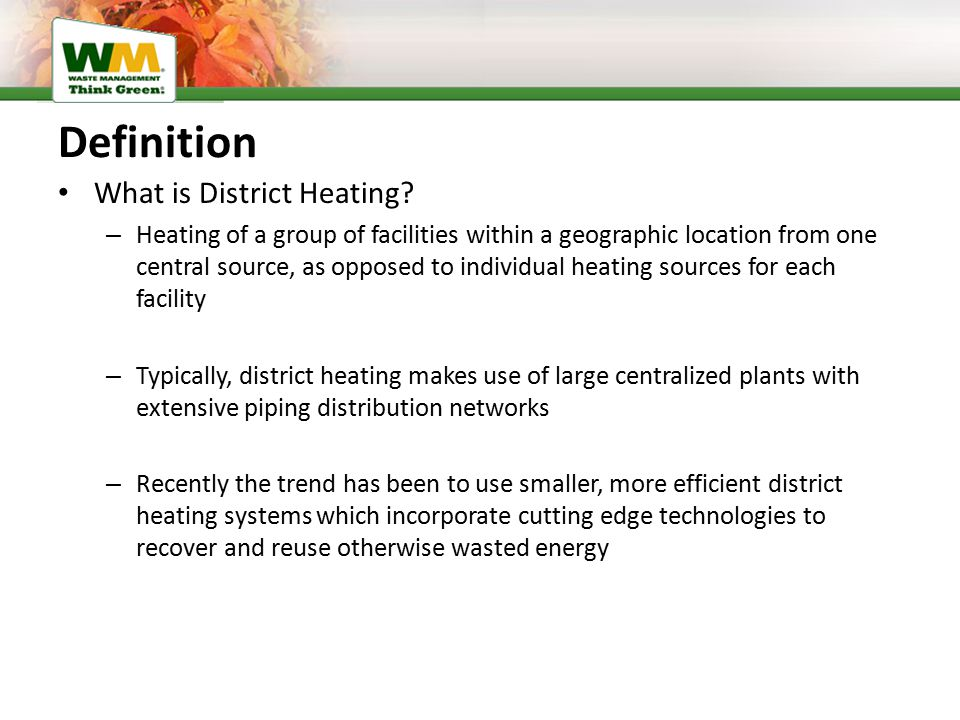 Definition What is District Heating.