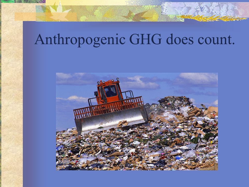 Anthropogenic GHG does count.