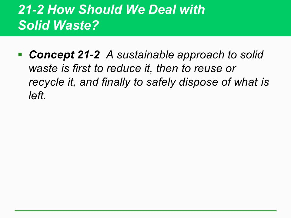 21-2 How Should We Deal with Solid Waste.