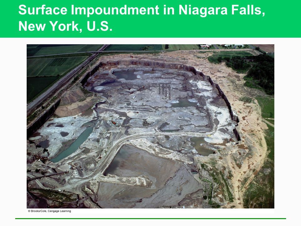 Surface Impoundment in Niagara Falls, New York, U.S.