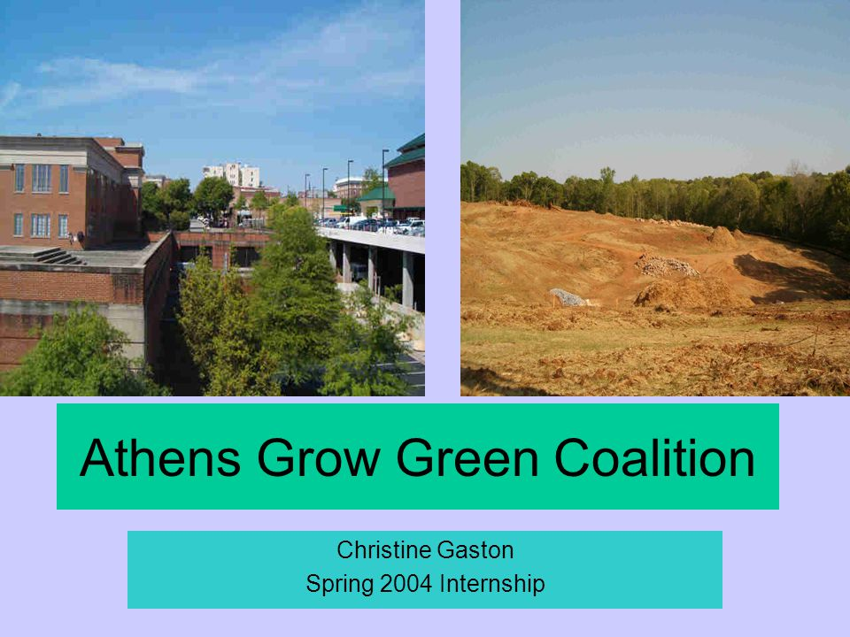 Athens Grow Green Coalition Christine Gaston Spring 2004 Internship
