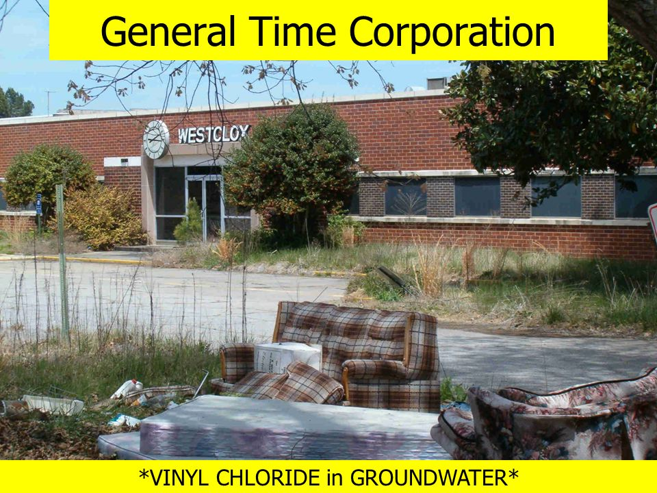 *VINYL CHLORIDE in GROUNDWATER* General Time Corporation