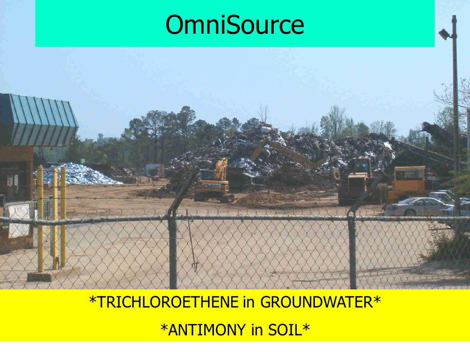 OmniSource *TRICHLOROETHENE in GROUNDWATER* *ANTIMONY in SOIL*