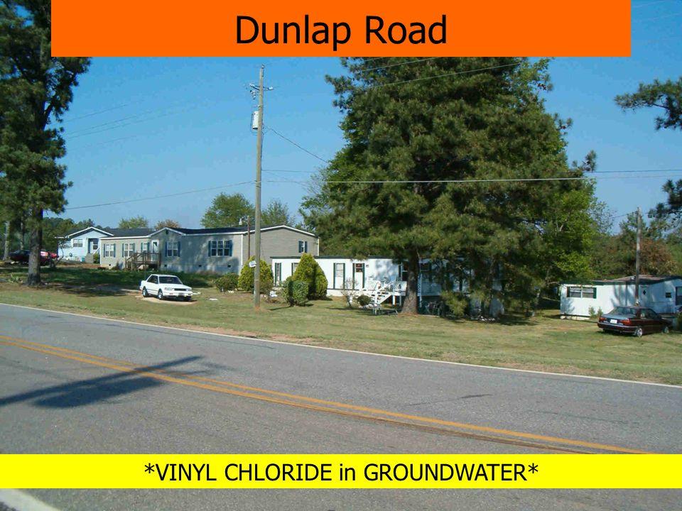 *VINYL CHLORIDE in GROUNDWATER* Dunlap Road