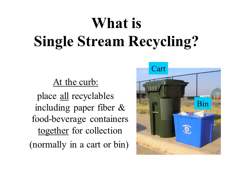 Why Consider Single Stream Recycling.