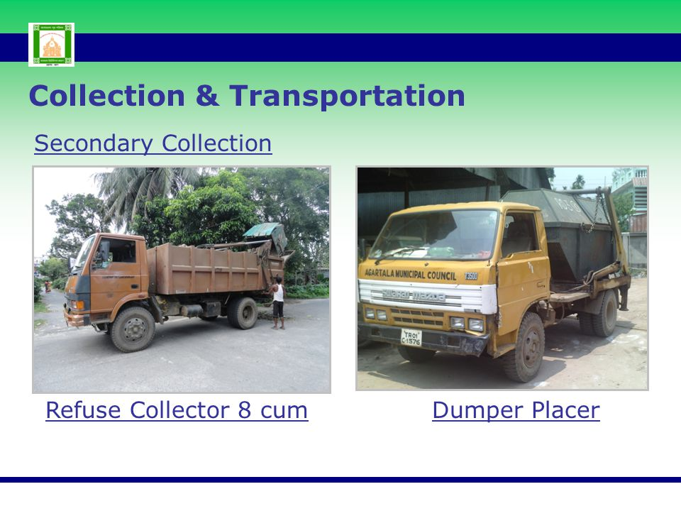 Collection & Transportation Secondary Collection Refuse Collector 8 cum Dumper Placer