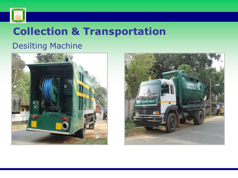 Desilting Machine Collection & Transportation