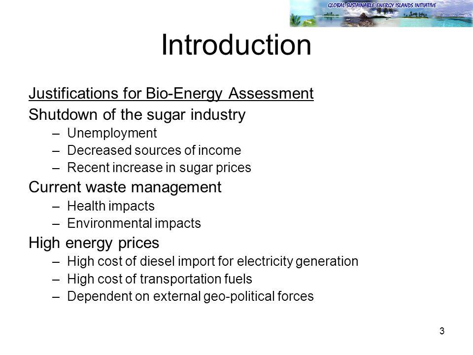 4 Introduction Sugar cane scenario overview (1)