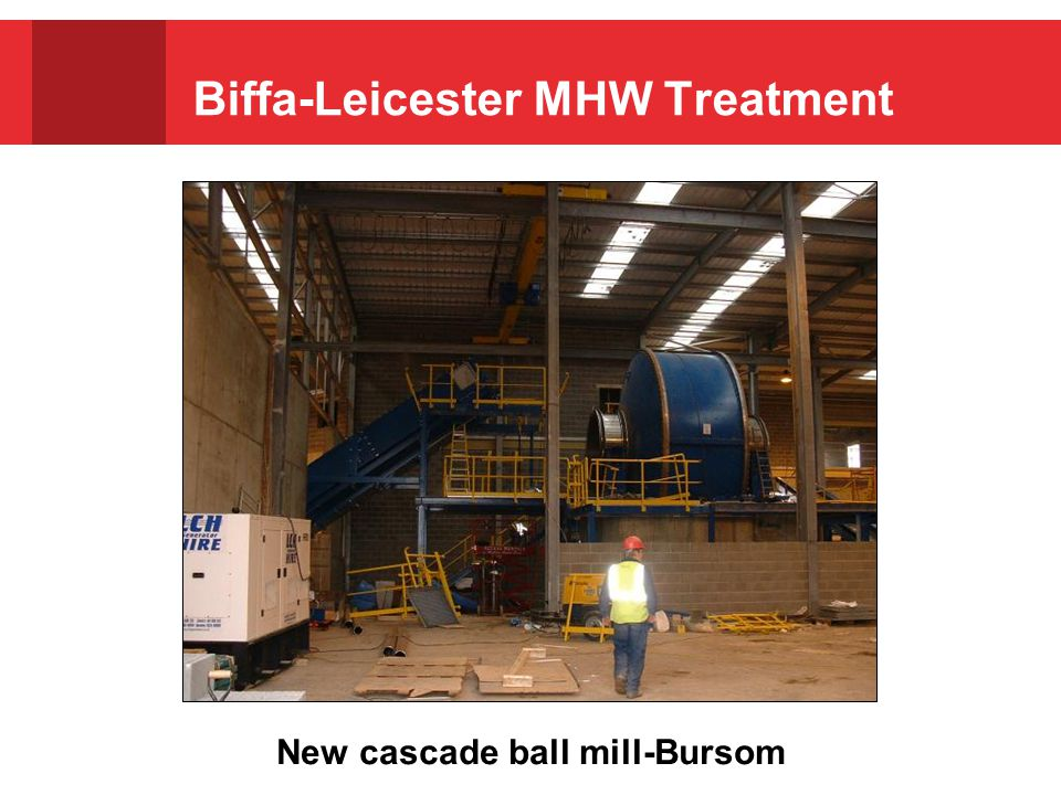 Biffa-Leicester MHW Treatment New cascade ball mill-Bursom