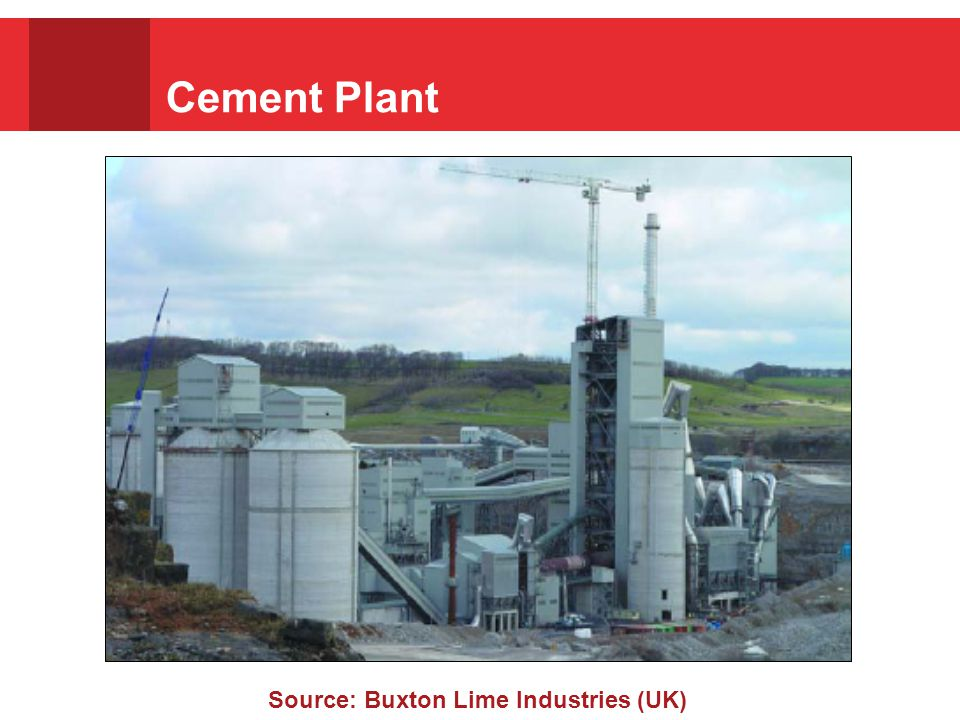 Cement Plant Source: Buxton Lime Industries (UK)