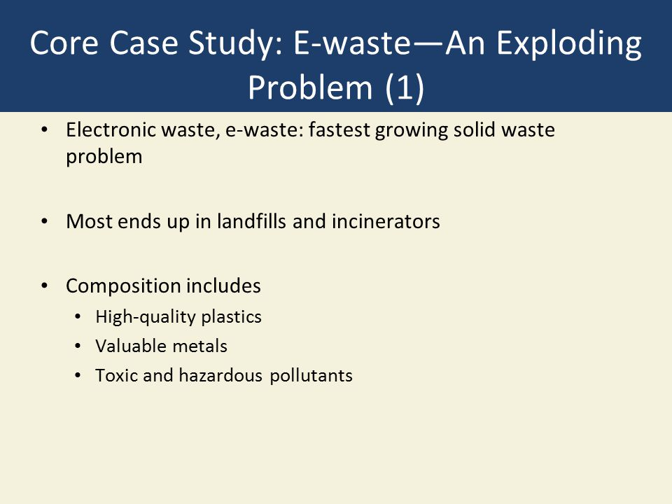 Solid Waste in the United States Leader in solid waste problem What is thrown away.