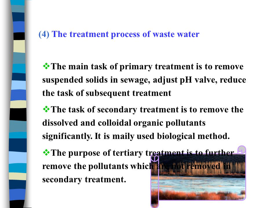 15.3.4 Pollution control of soil environment Pollution prevention measures of soil environment mainly including:  Strengthen the source control and management of contaminated soil Technical measure of soil pollution treatment Physical improvement Chemical improvement Biological improvement