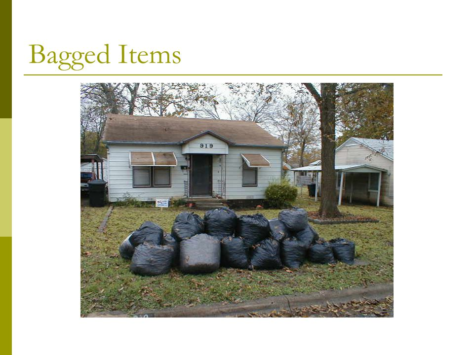 Bagged Items