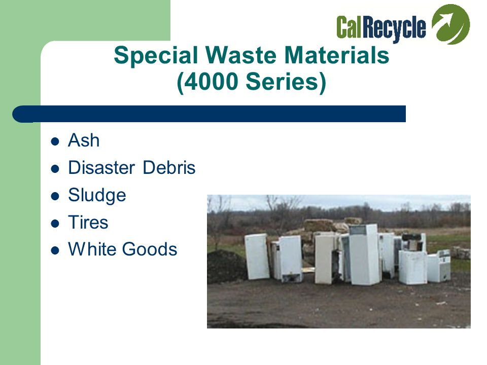 Composting (3000 Series) Food Waste Composting Residential and Commercial Pick-Up (Can be mixed with greenwaste) Example: Some cities collect and comp