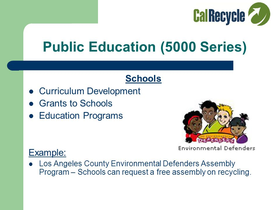 Public Education (5000 Series) Outreach Technical Assistance Presentations Awards Seminars Workshops Exhibits Merced Composting Facility Tour and Outr