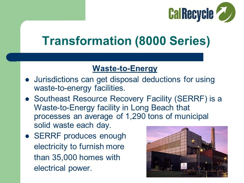 Facility Recovery (7000 Series) Organic Processing Facilities Norcal's Jepson Prairie Organics Composting Facility in Dixon, CA Aerobic, Windrow Aerobic, Static Pile Anaerobic In-Vessel Chipping/Mulching Vermicomposting