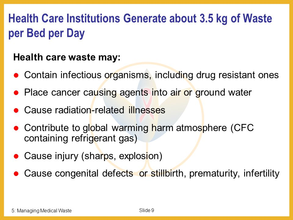 5: Managing Medical Waste Slide 8 Then Why does this Waste Matter.