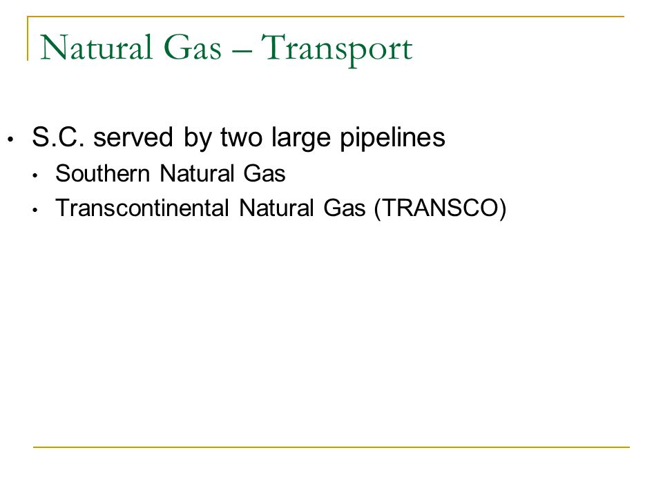 Natural Gas – Transport S.C.