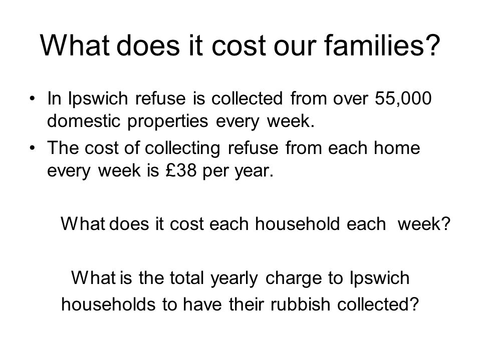 What does it cost our families.