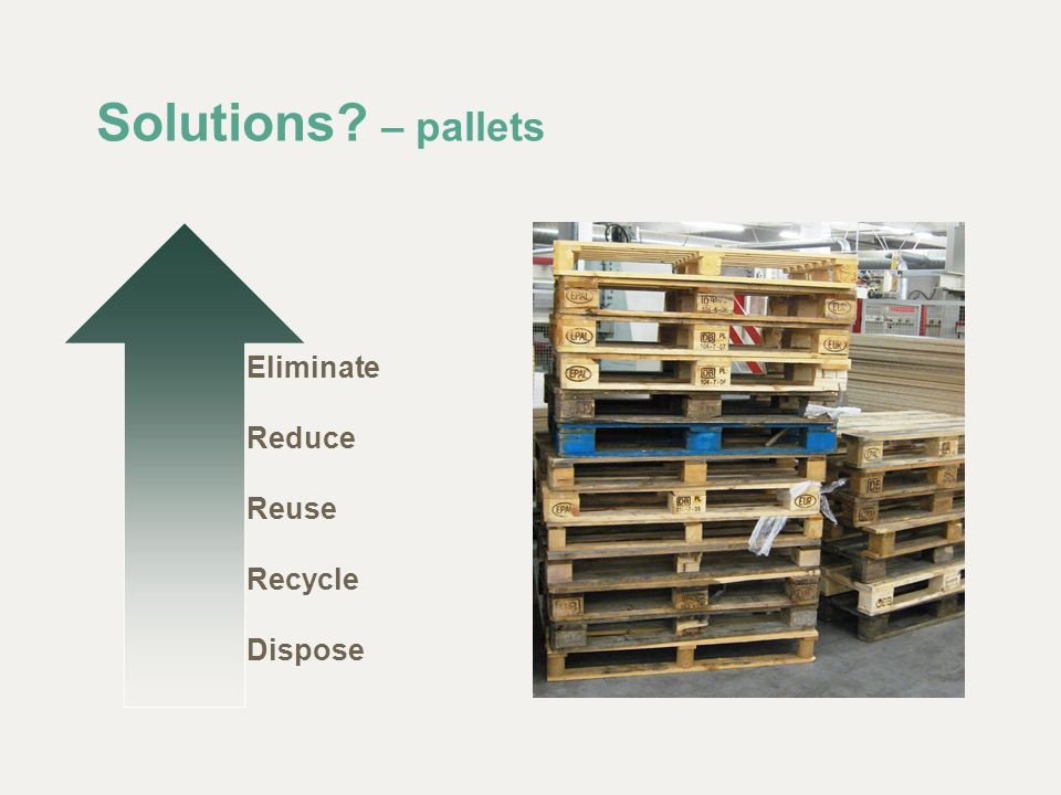Solutions? – pallets Eliminate Reduce Reuse Recycle Dispose
