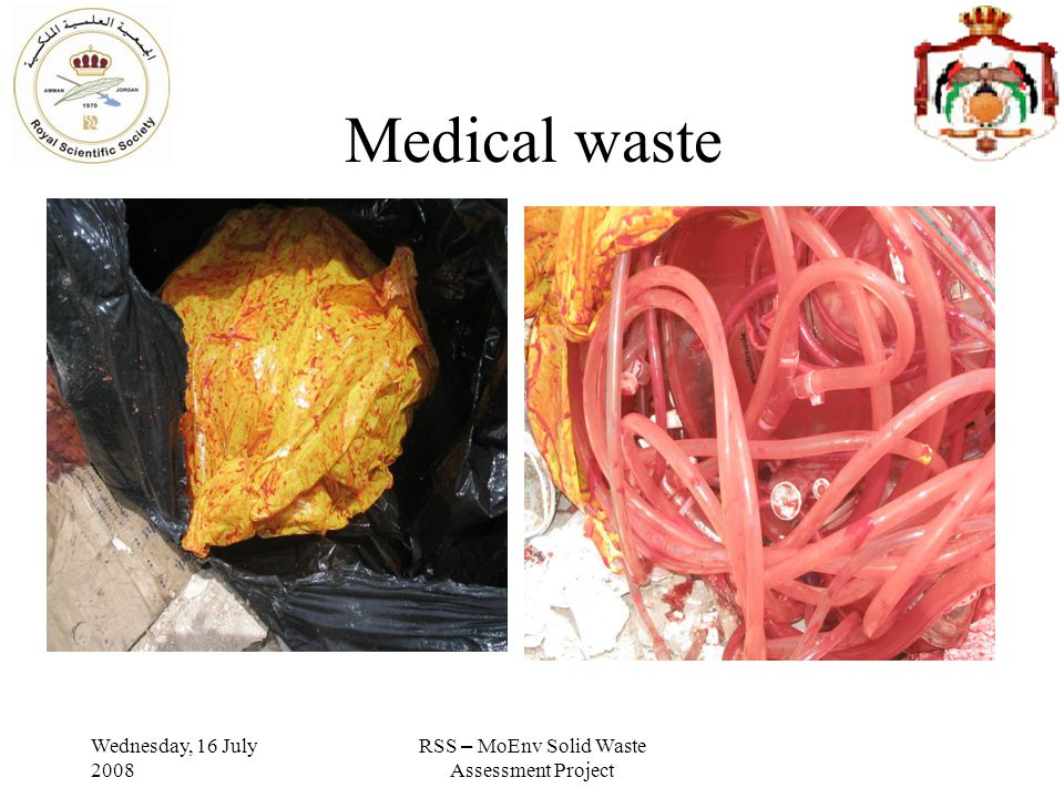 Wednesday, 16 July 2008 RSS – MoEnv Solid Waste Assessment Project Medical waste