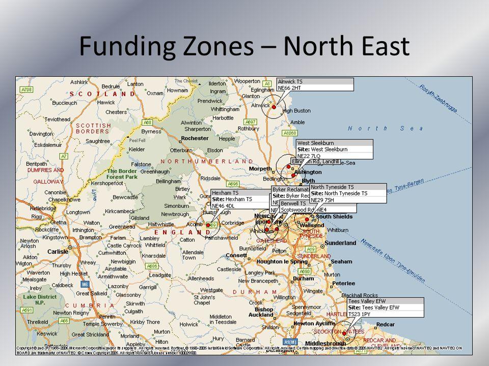 Funding Zones – North East