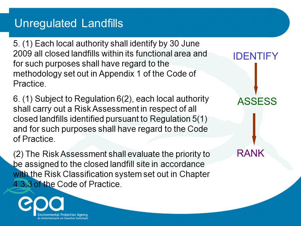 Unregulated Landfills 5.