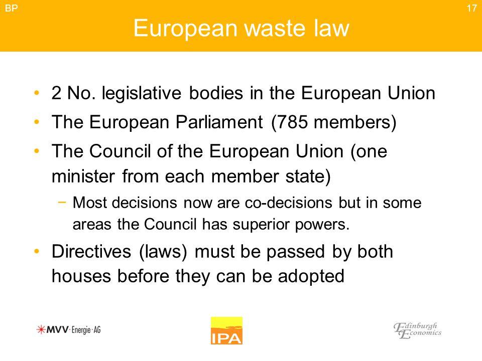 17 European waste law 2 No.