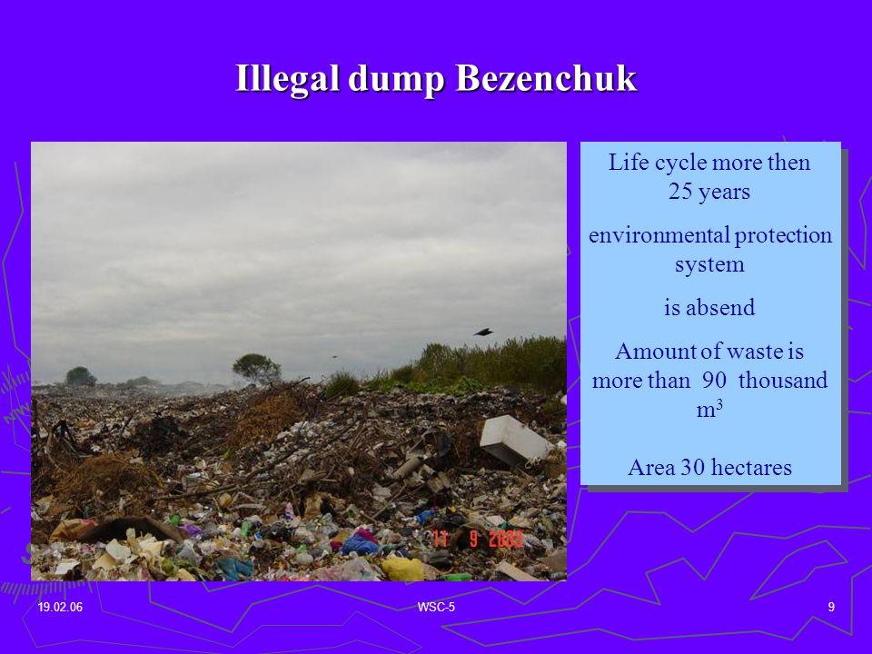 19.02.06WSC-510 Scheme of dump Bezenchuk 2 regions of sewage sludge 2 regions of sewage sludge topsoiltopsoil