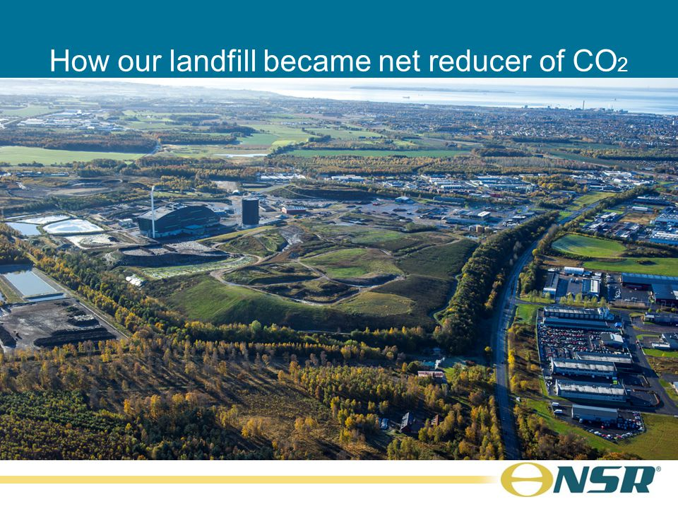 How our landfill became net reducer of CO 2 Kim Olsson CEO