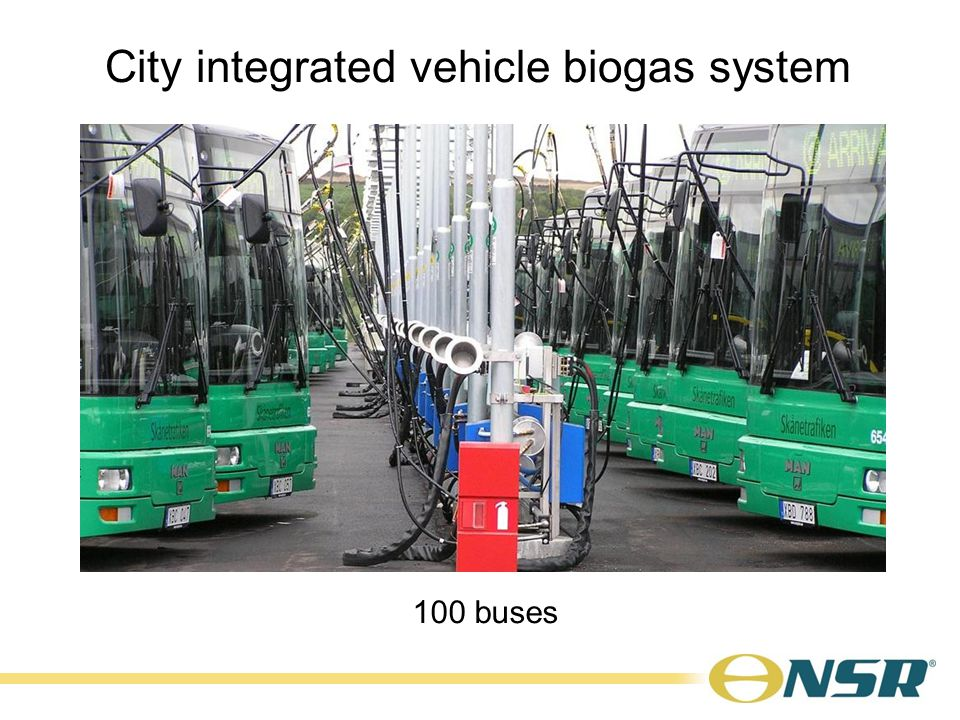 City integrated vehicle biogas system 100 buses