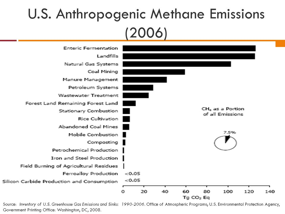 Source: Inventory of U.S. Greenhouse Gas Emissions and Sinks: 1990-2006. Office of Atmospheric Programs; U.S. Environmental Protection Agency, Governm