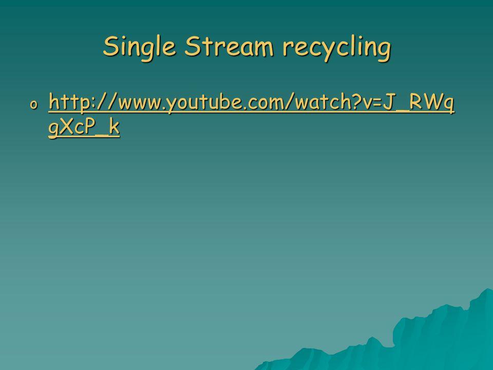 Single Stream recycling o http://www.youtube.com/watch v=J_RWq gXcP_k http://www.youtube.com/watch v=J_RWq gXcP_k http://www.youtube.com/watch v=J_RWq gXcP_k