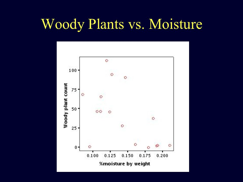 Woody Plants vs. Moisture