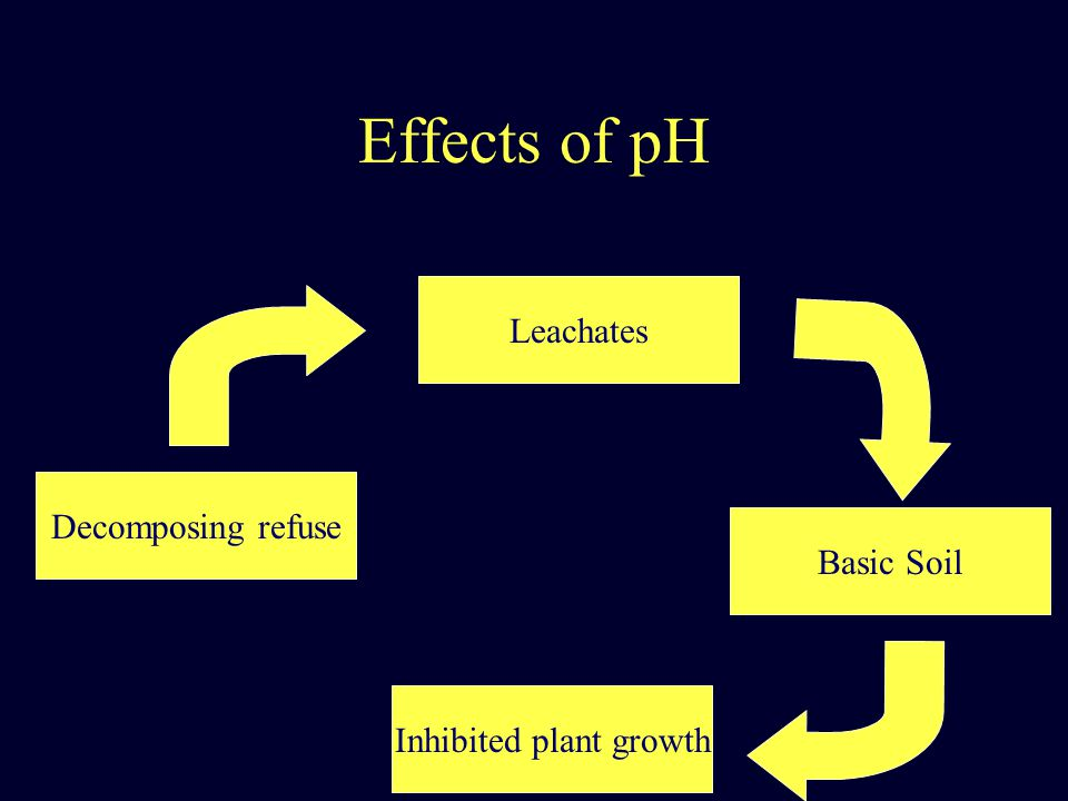 Effects of pH Decomposing refuse Leachates Basic Soil Inhibited plant growth