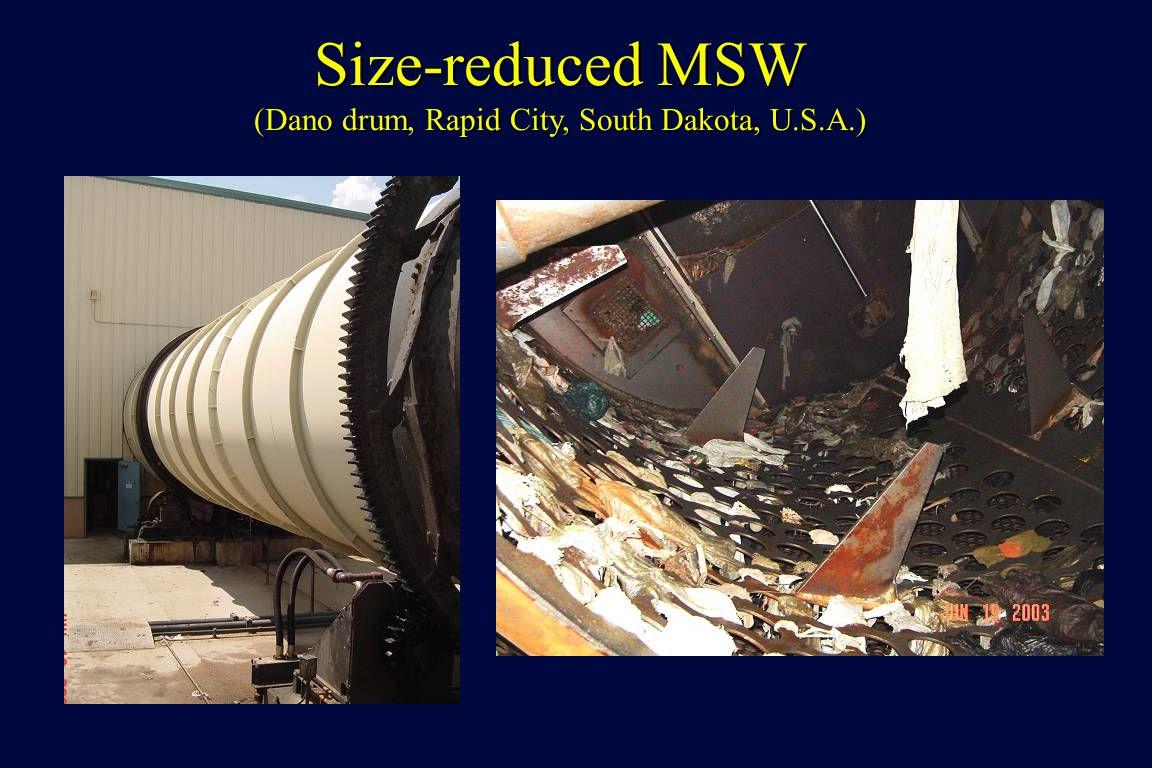 Size-reduced MSW (Dano drum, Rapid City, South Dakota, U.S.A.)