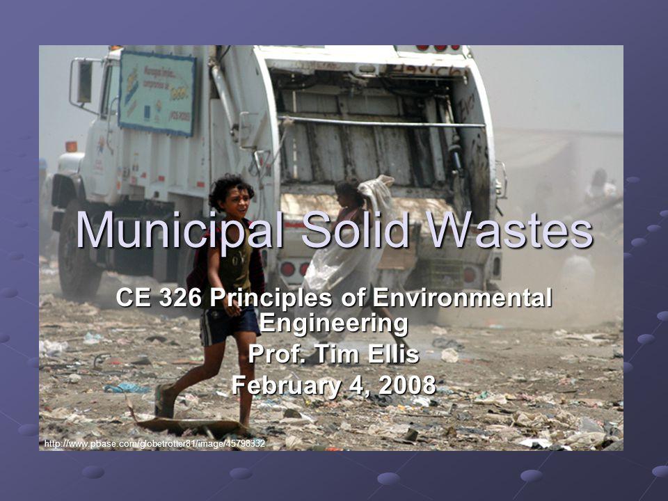 CE 326 Principles of Environmental Engineering Prof.