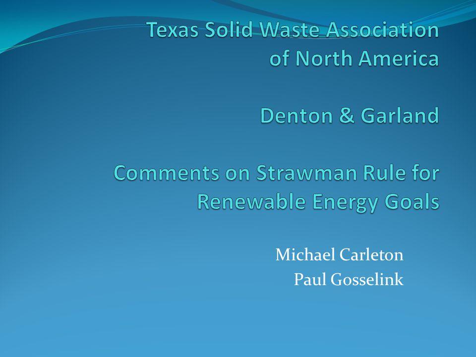Michael Carleton Paul Gosselink