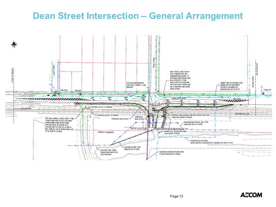 Dean Street Intersection – General Arrangement Page 13