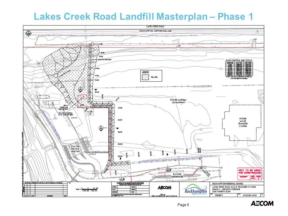 Lakes Creek Road Landfill Masterplan – Phase 1 Page 5