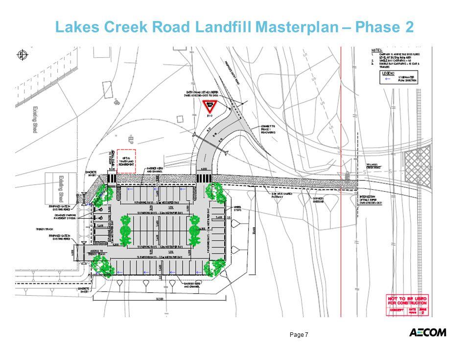 Lakes Creek Road Landfill Masterplan – Phase 2 Page 7