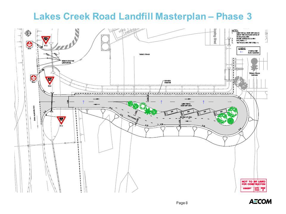 Lakes Creek Road Landfill Masterplan – Phase 3 Page 8
