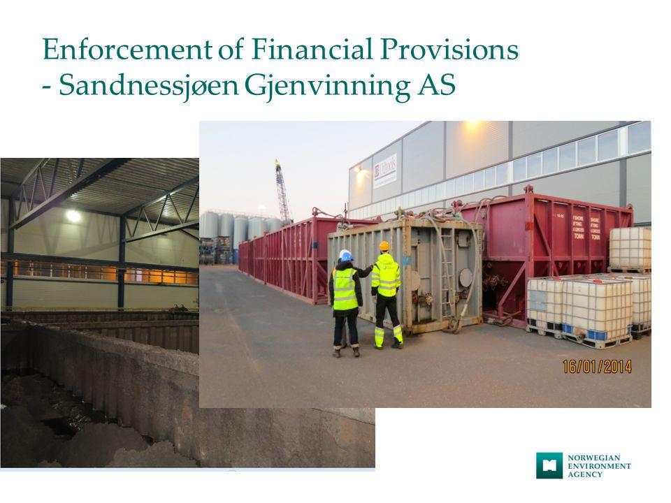 Enforcement of Financial Provisions - Sandnessjøen Gjenvinning AS Foto: Miljødirektoratet v/ Ida Marie Evensen