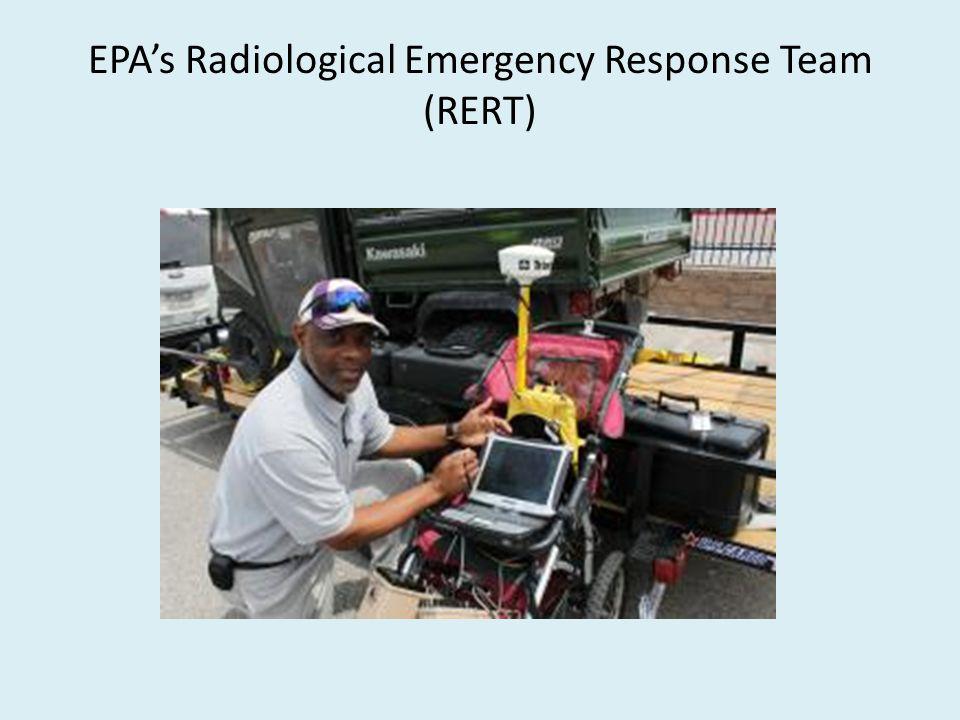 EPA's Radiological Emergency Response Team (RERT)